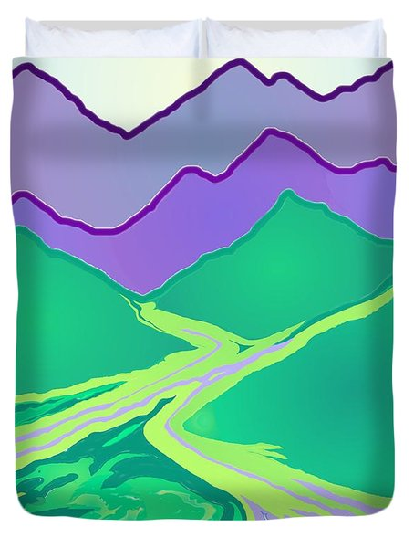 Mountain Murmurs Duvet Cover