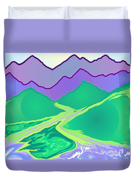 Mountain Murmurs Duvet Cover