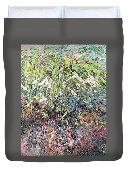 Mountain Of Many Colors Duvet Cover