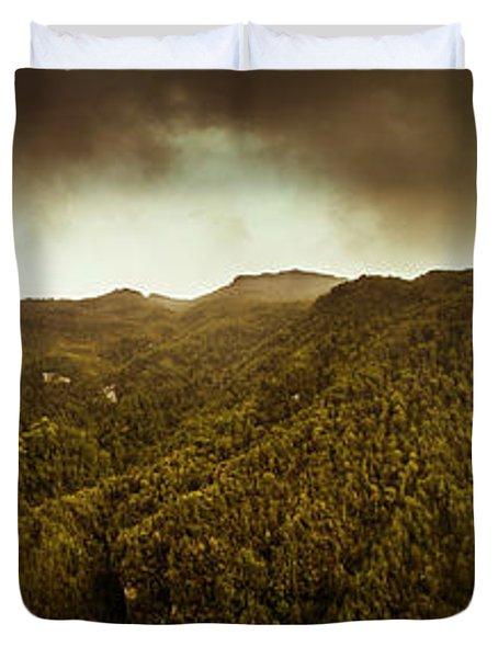 Mountain Of Trees Duvet Cover