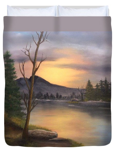 Mountain Paradise Duvet Cover by Sheri Keith