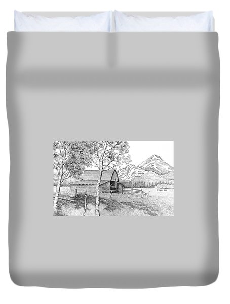 Mountain Pastoral Duvet Cover