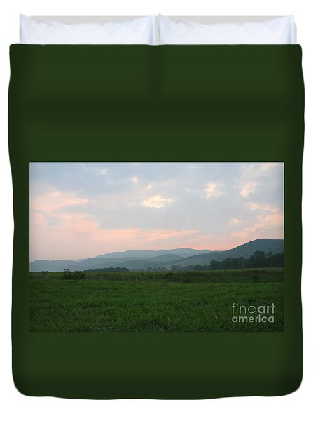 Mountain Pasture Duvet Cover