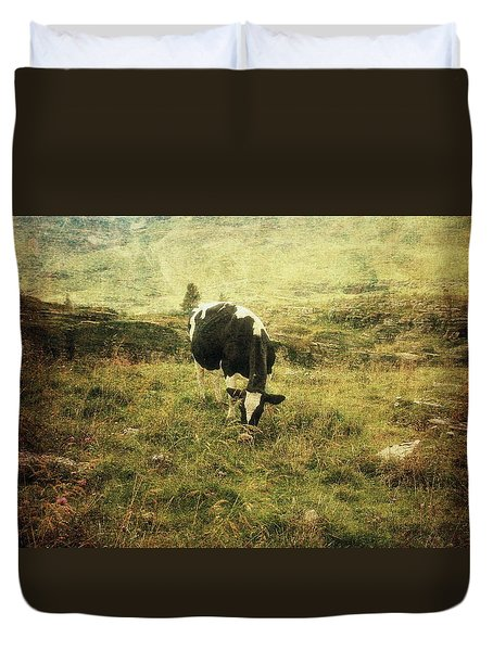 Mountain Pastures  Duvet Cover