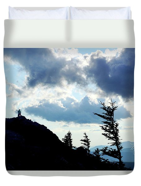 Duvet Cover featuring the photograph Mountain Peak by Meta Gatschenberger