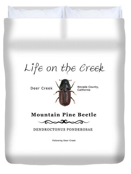 Mountain Pine Beetle Color Duvet Cover