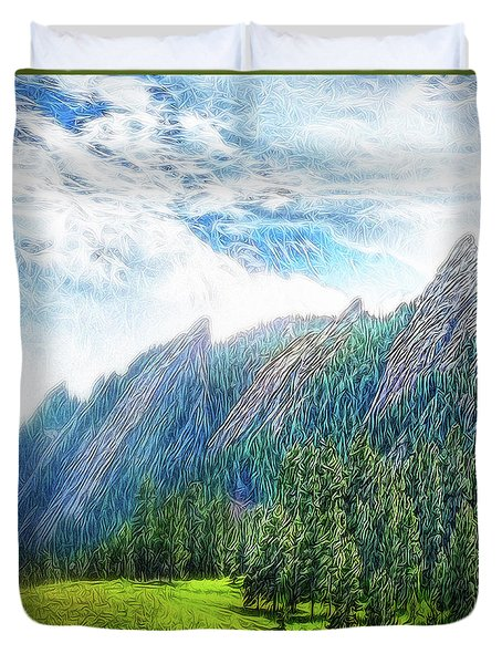 Mountain Pine Meadow Duvet Cover