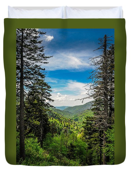 Mountain Pines Duvet Cover