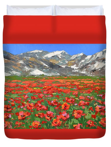 Mountain Poppies   Duvet Cover