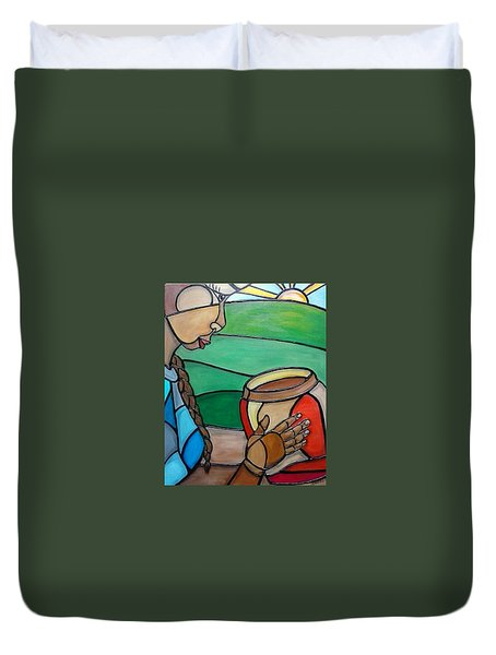 Mountain Potter Duvet Cover by Jenny Pickens