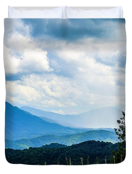 Mountain Rain Duvet Cover