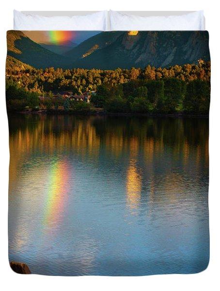 Mountain Rainbows Duvet Cover