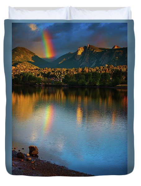 Mountain Rainbows Duvet Cover