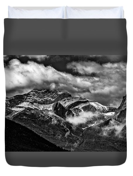 Mountain Range Canada Duvet Cover by Patrick Boening
