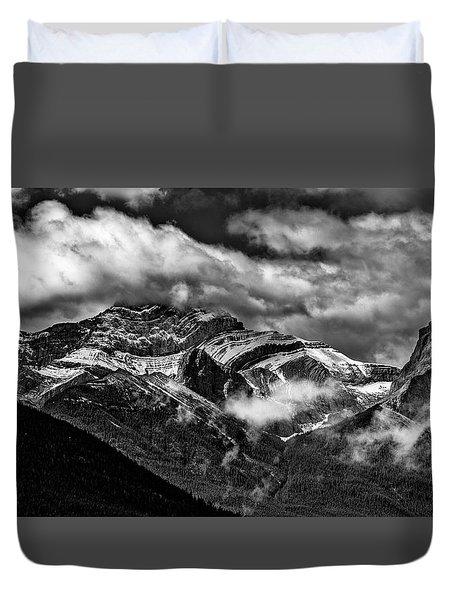 Mountain Range Canada Duvet Cover