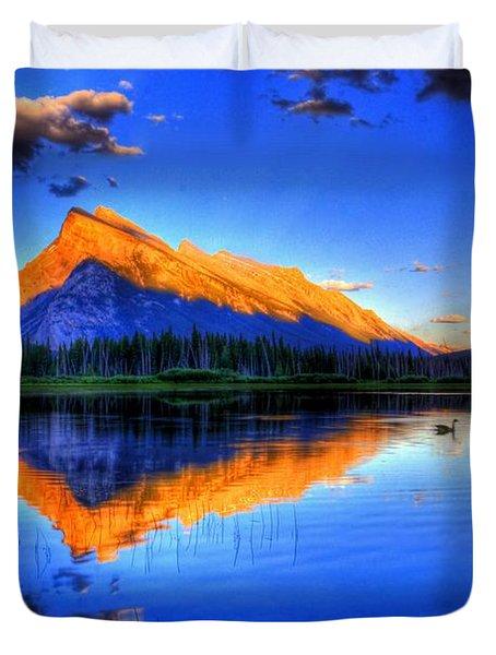 Mountain Reflection Duvet Cover