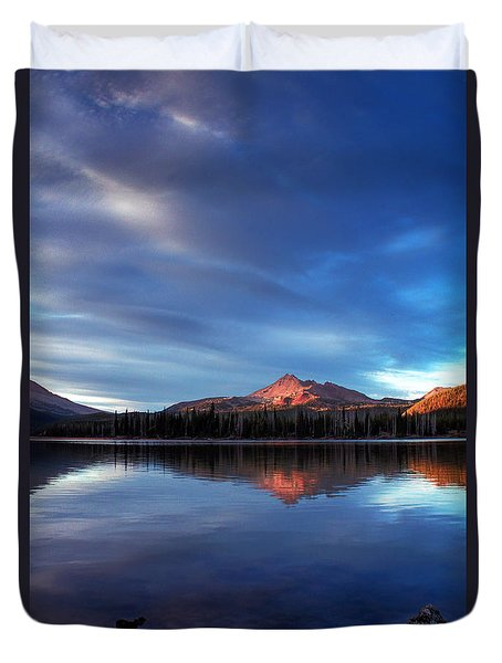 Mountain Reflection Duvet Cover