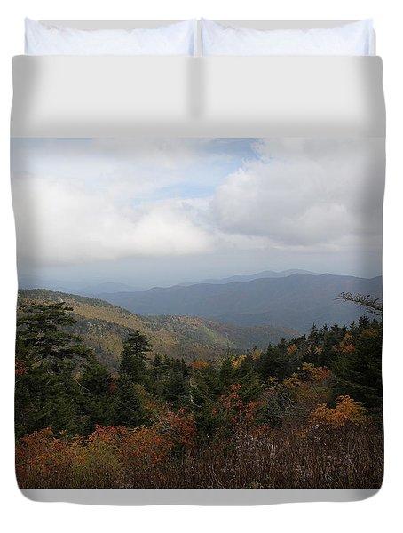 Mountain Ridge View Duvet Cover