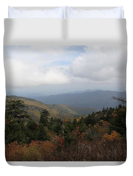 Mountain Ridge View Duvet Cover