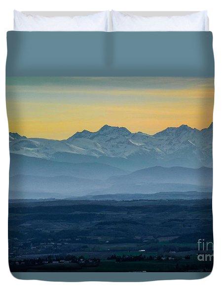 Mountain Scenery 12 Duvet Cover by Jean Bernard Roussilhe