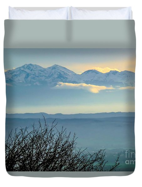 Mountain Scenery 14 Duvet Cover by Jean Bernard Roussilhe