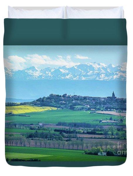 Mountain Scenery 17 Duvet Cover by Jean Bernard Roussilhe