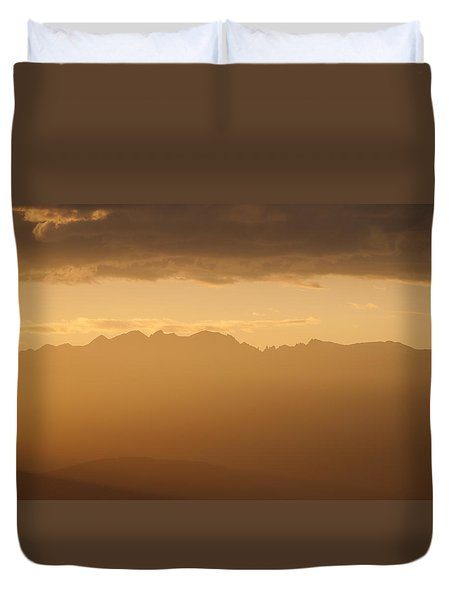 Duvet Cover featuring the photograph Mountain Shadows by Colleen Coccia