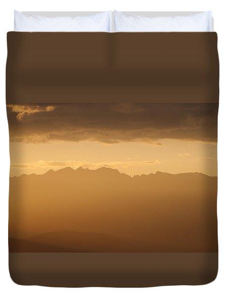 Mountain Shadows Duvet Cover by Colleen Coccia
