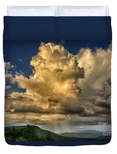 Mountain Shower And Storm Clouds Duvet Cover