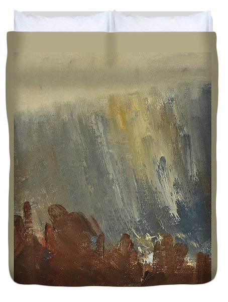 Mountain Side In Autumn Mist. Up To 90x120 Cm Duvet Cover