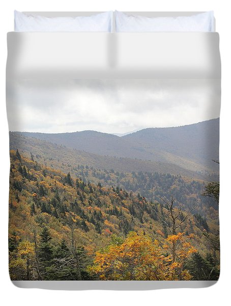 Mountain Side Long View Duvet Cover