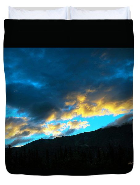 Duvet Cover featuring the photograph Mountain Silhouette by Madeline Ellis