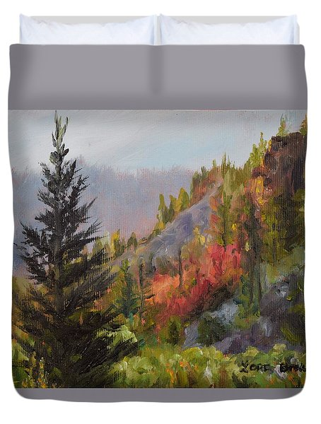 Mountain Slope Fall Duvet Cover