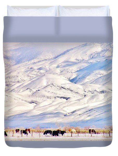 Mountain Snow Duvet Cover