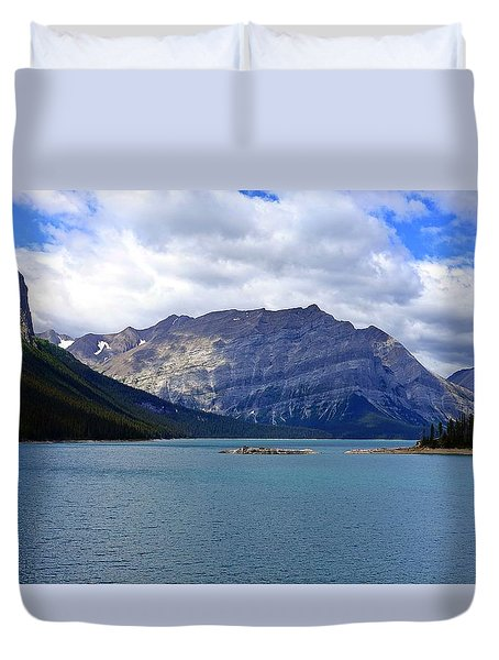 Upper Kananaskis Lake Duvet Cover