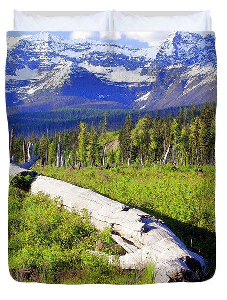 Mountain Splendor Duvet Cover by Marty Koch