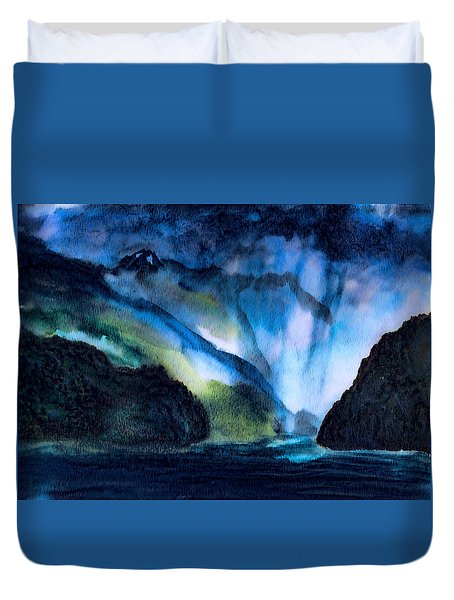 Mountain Storms Duvet Cover