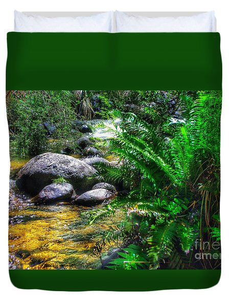 Mountain Stream Duvet Cover by Blair Stuart