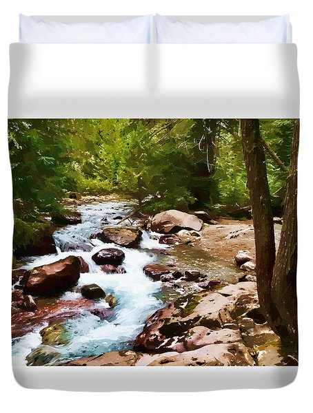 Mountain Stream Duvet Cover by Dan Dooley