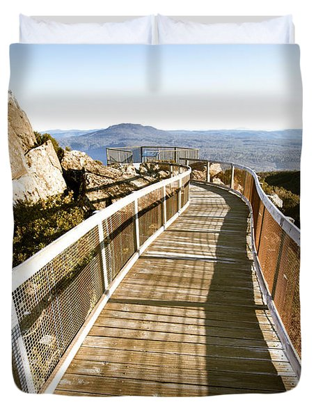 Mountain Summit Lookout Duvet Cover
