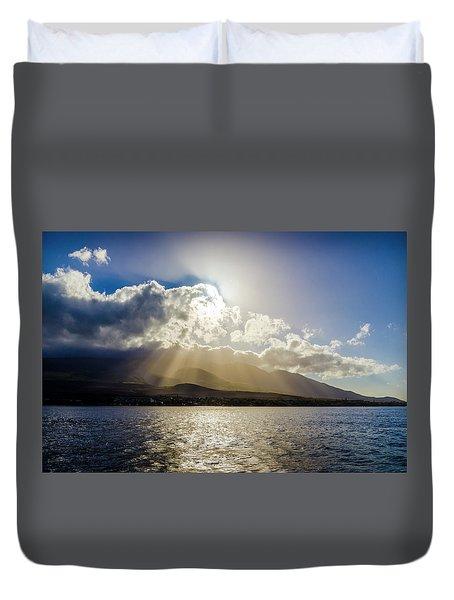 Mountain Sunbeams Duvet Cover