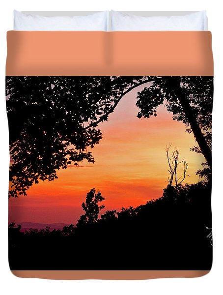 Duvet Cover featuring the photograph Mountain Sunrise by Meta Gatschenberger