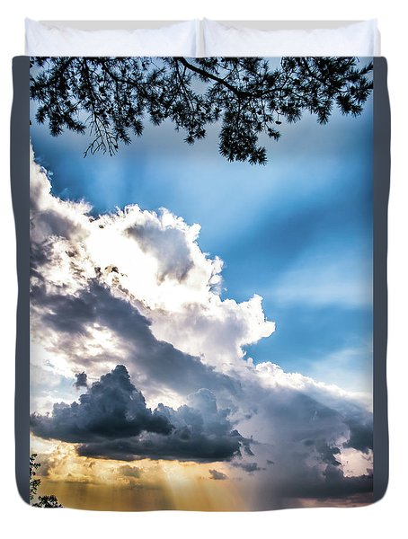 Duvet Cover featuring the photograph Mountain Sunset Sightings by Shelby Young