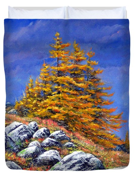 Mountain Tamaracks Duvet Cover