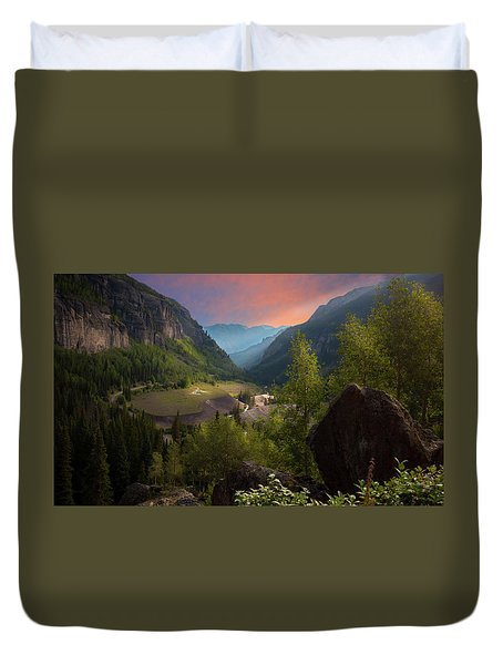 Mountain Time Duvet Cover
