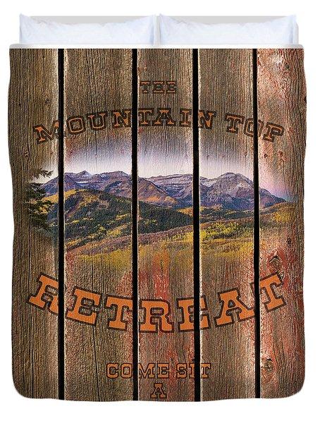 Mountain Top Retreat Duvet Cover