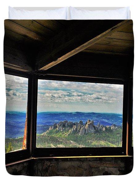 Mountain Top View Duvet Cover