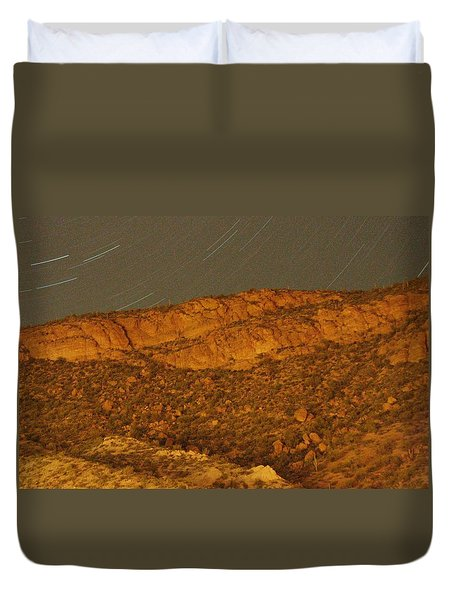 Mountain Trails Duvet Cover by David S Reynolds