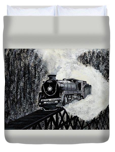 Mountain Train Duvet Cover