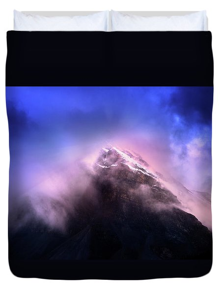 Duvet Cover featuring the photograph Mountain Twilight by John Poon